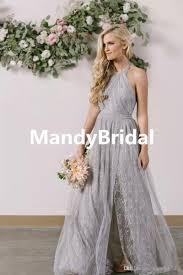 light gray bridesmaid dresses 2018 fairy lace bridesmaid dresses light gray side backless