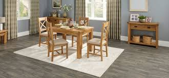 cruz extending dining table u0026 4 cross back chairs scs