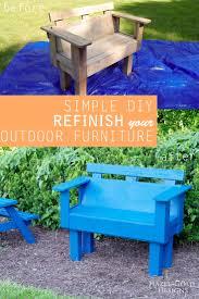 refinish outdoor furniture wash sand paint refinishing