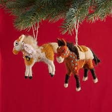 felt pony ornament set robert redford s sundance catalog