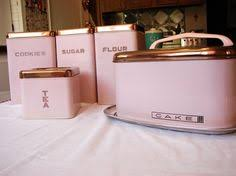 pink canisters kitchen 4 pink plastic canister set 1960s kitchen