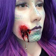 Special Effects Makeup Classes Nyc Mermaid With Hook Special Effects Makeup Sfx Makeup Pinterest