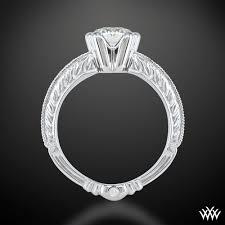 hand engraved rings images Crescendo hand engraved half bezel diamond engagement ring by wf jpg