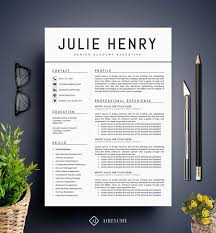 modern resume template cv template cover letter by a1resume