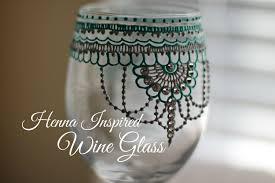 Home Decor Glass Henna Inspired Wine Glass Decor Hennafly Youtube