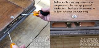 how to remove sliding glass door rollers how to replace the rollers in an andersen gliding door