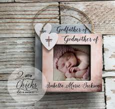 godparent ornaments set of 2 picture frame ornaments