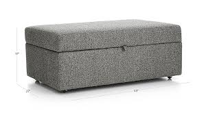 lounge ii storage ottoman with tray crate and barrel