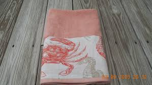 Sea Life Home Decor Coral Sealife Hand Towel Beach Coastal Kitchen Bath Home Decor