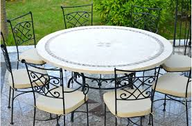 stone patio table top replacement faux stone patio table outdoor stone dining table top patio mosaic
