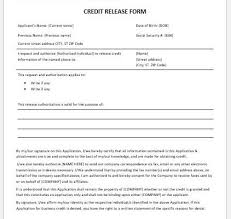 Credit Release Form Microsoft Word Excel Templates Part 8