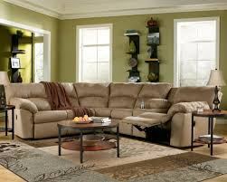 Beige Sectional Sofa Furniture Beige Sectional Recliner Couch With Simple Tufted Back