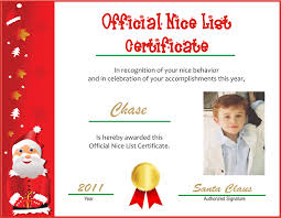 official letters from santa happy official list certificate letter from santa template