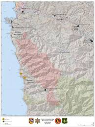 California Wildfires Highway Closures by Soberanes Fire Map 7 26 16 1 00 Pm Big Sur California