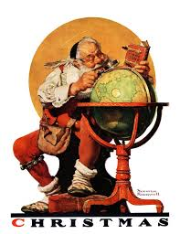 marmont hill santa at the globe saturday by norman rockwell
