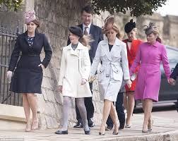 princesses beatrice eugenie and join the for easter