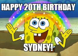 20th Birthday Meme - meme maker happy 20th birthday sydney