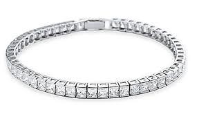 bracelet tennis zirconia images Crislu sterling platinum princess cut cubic zirconia tennis bracelet jpg