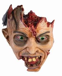 gory cut off open head prop with open eyes halloween haunted house