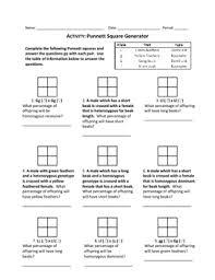 punnett square generator worksheet by haney science  tpt with punnett square generator worksheet from teacherspayteacherscom