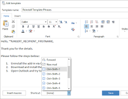 how to use templates in outlook 2016 2013 2007 template phrases