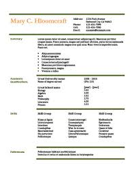 name resume simple resume templates 75 examples free download