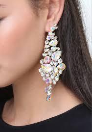 lyst bebe dramatic earrings in metallic