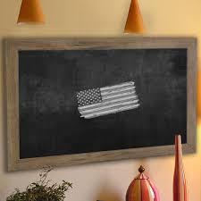 laurel foundry modern farmhouse barnwood wall mounted chalkboard