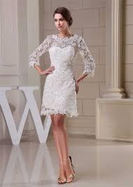 tea length wedding dresses short bridal gown short white lace dress