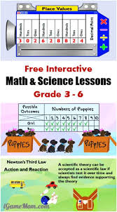 free interactive math and science lessons