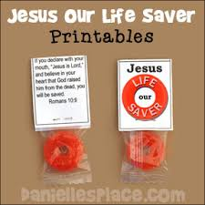 Religious Halloween Crafts - bible craft for kids jesus is our life saver candy printable