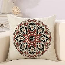taie d oreiller pour canapé ethnique ronde oreiller housse de coussin décoratif taie d oreiller