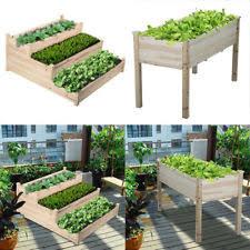 wooden flower u0026 plant raised garden beds boxes ebay