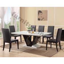 Black Marble Dining Room Table - Black dining table for 8