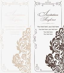 wedding invitations vector european and american vintage style wedding invitations vector