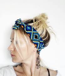 top knot headband items similar to top knot headband geometric print knotted