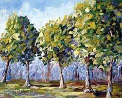 trees painting by lewis bowman