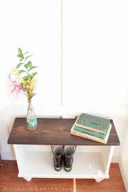 How To Build A Entryway Bench With Storage A Storage Bench For Small Entryway Space Southern Revivals