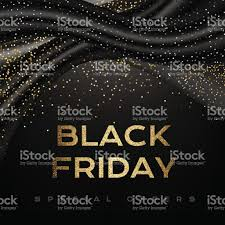 black friday luxury poster with black decorations and silver