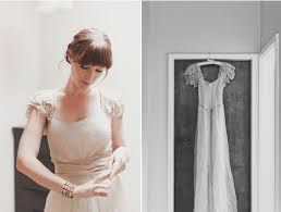 new zealand wedding bride getting ready lace wedding dress vintage