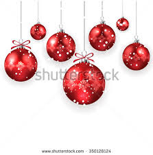 christmas decoration red christmas balls isolated stock vector
