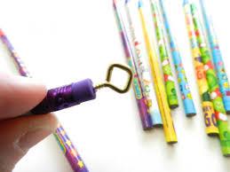 last minute new year u0027s eve kids craft project pencil ribbon wands