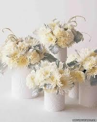 White Centerpieces White Wedding Flowers Martha Stewart Weddings