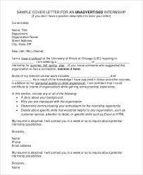 sample cover letter for marketing internship marketing intern