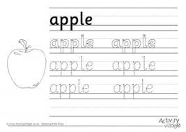 apple word tracing