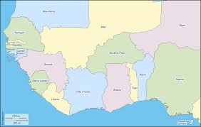 Map Of Western Africa by Western Africa Free Map Free Blank Map Free Outline Map Free