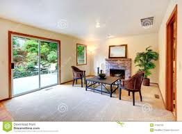 living room with sitting area by the fireplace stock photo image