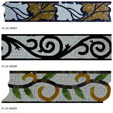 Bathroom Tile Border Ideas Colors Colorful Mosaic Tile Wallpaper And Borders Flower Border Design