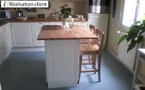 plan travail cuisine sur mesure ilot de cuisine avec plan de travail en hêtre le du bois