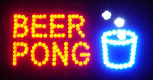 light up beer signs neon led sign bar flashing lights beer pong text amazon com